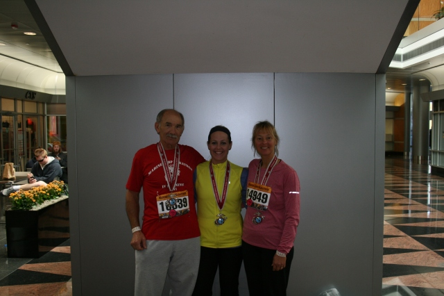 Bruce (my Dad), myself, and Betsy (my Mom) after the Marine Corp Marathon in Washington, D.C. in 2011.