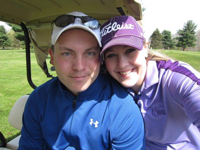 Mark & I golfing at Bedford Valley in Battle Creek, MI (April 2012).