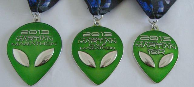 The Medals for 2013 Martian Invasion of the Races! Some of the coolest medals I've seen!