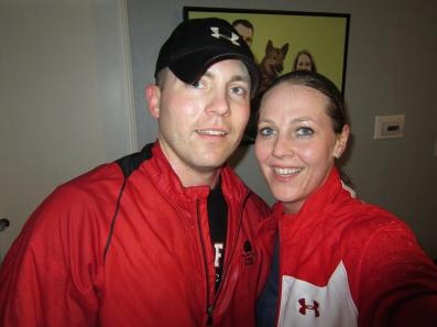 Mark and I after our run in the rain tonight!