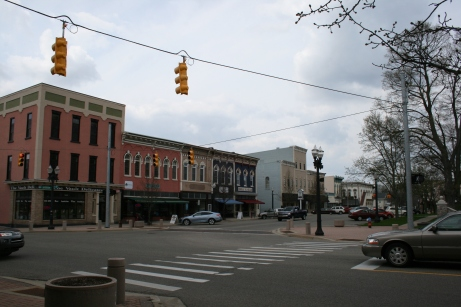 A portion of historic downtown Mason.