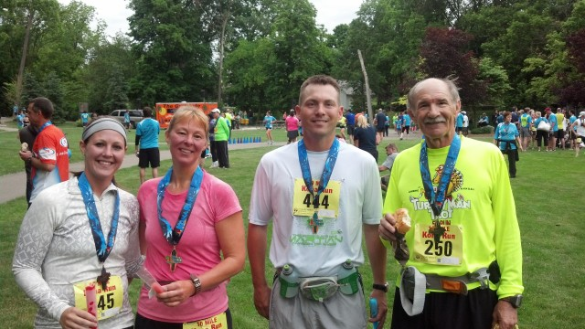 Myself, Mom, Mark and Dad after finishing the Kona 10 Mile Race!