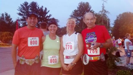 Mark, myself, Mom and Dad before the start of the race.