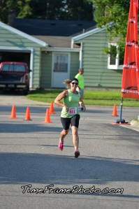 Meghan at the Finish Line!
