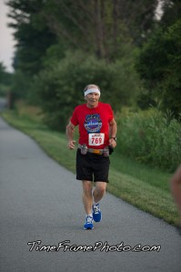 Dad at the 2 mile marker.