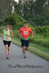 Mark & I at the 2 mile marker.
