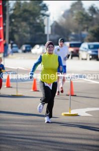 Finisher's Photo from the Super Bowl 5k (February 5, 2012)