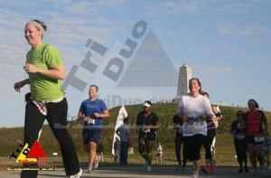 Meghan during the First Flight 5k.