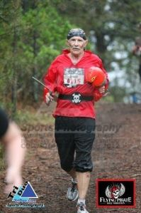 Dad during the Flying Pirate Half Marathon.